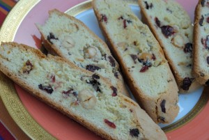 Orange Hazelnut Biscotti