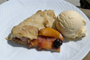 Peach Blackberry Crostata